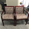 Mahogany Wood Frame Side Chairs