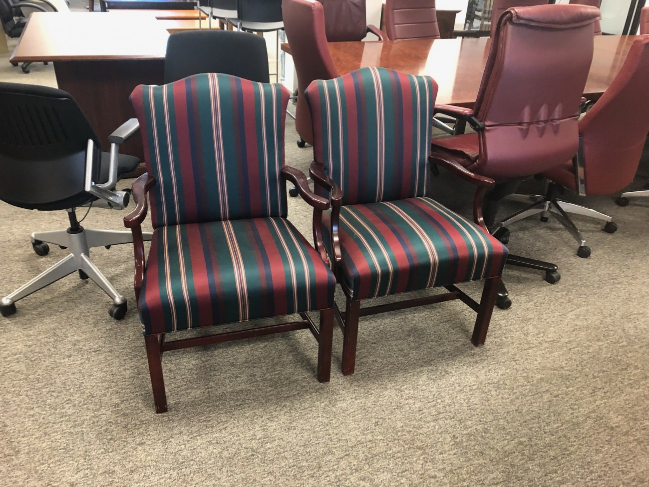 Striped Pattern Side Chairs Richmond Office Interiors