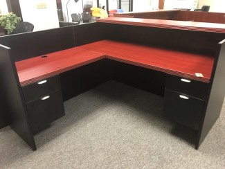Cherry and Black Reception Desk