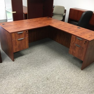 Cherry L-Shape Desk