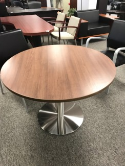Modern Walnut Round Table