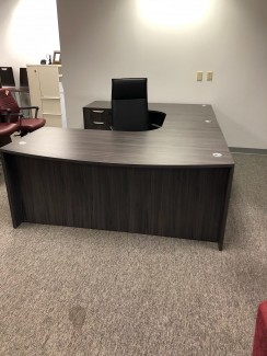 Coastal Gray U-Shaped Desk