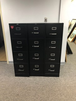 Black Four Drawer Lateral Files