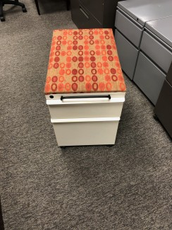 Mobile File Pedestal with Cushion Top