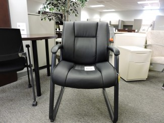 Black Leather Office Chair in Richmond VA