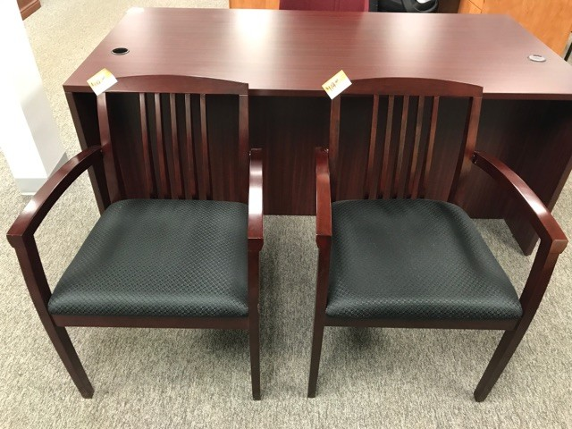 Mahogany Framed Side Chairs
