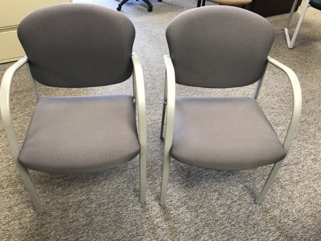 Gray Fabric Side Chairs