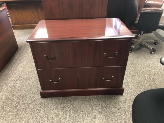 Mahogany Traditional Two Drawer Lateral File
