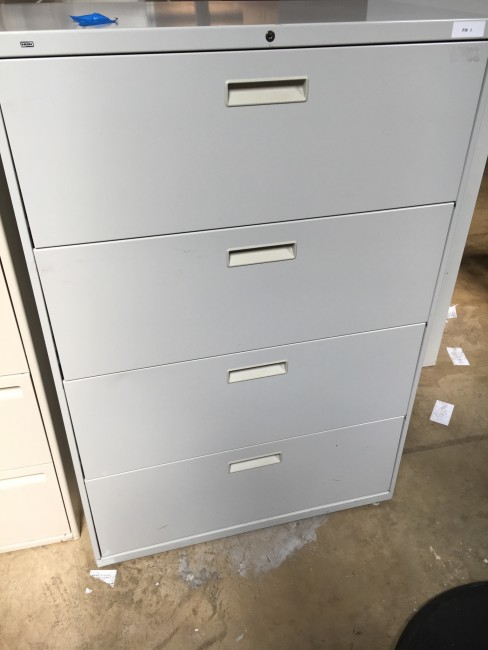 Light Gray Four Drawer Lateral File