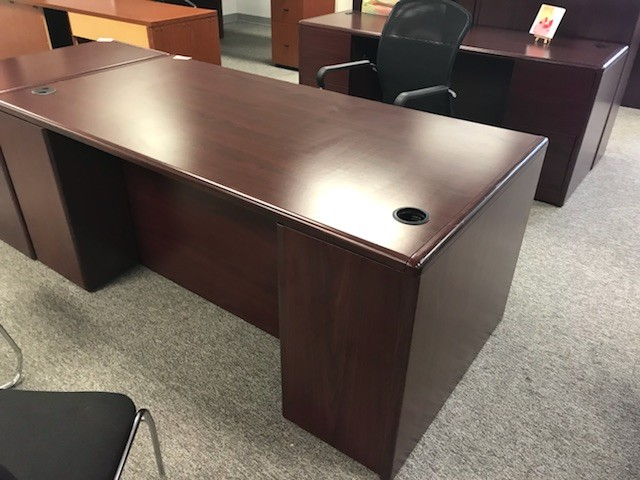 Mahogany Double Ped Desk