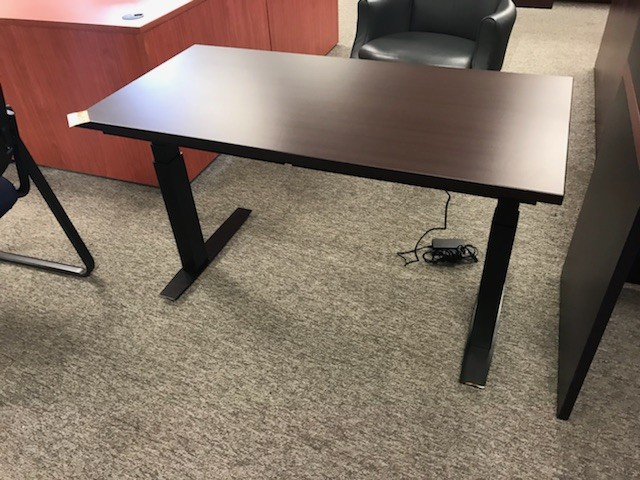 Espresso Height Adjustable Training Table Richmond Office Interiors - Adjustable training table