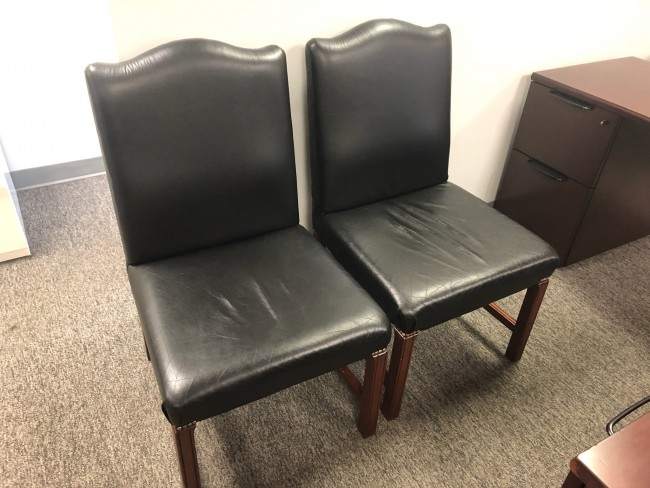 Black Leather Side Chairs