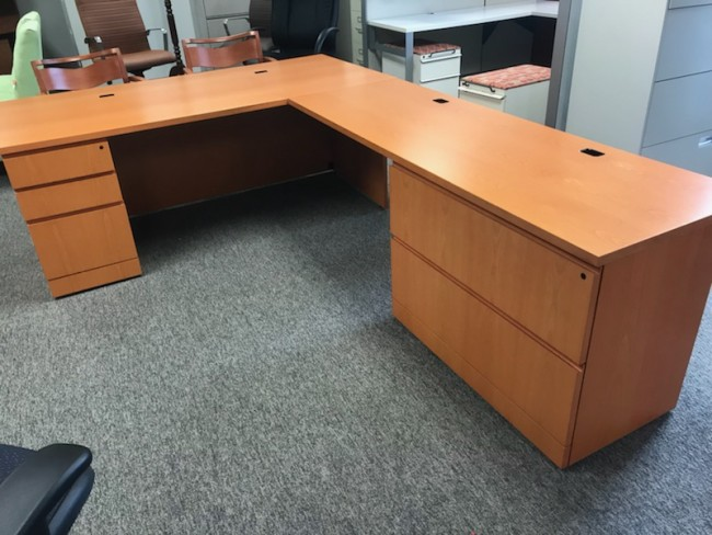 Honey L-Shape Desk