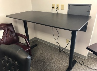 Black Height Adjustable Training Table