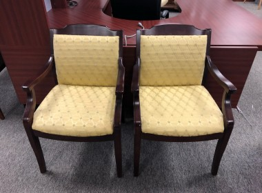 Yellow Fabric Side Chairs