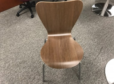 Modern Walnut Side Chair