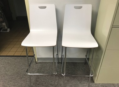 Cafe Height Wood Stools