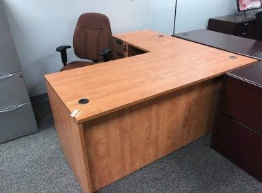 Honey L-Shaped Desk