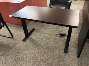 Espresso Height Adjustable Training Table