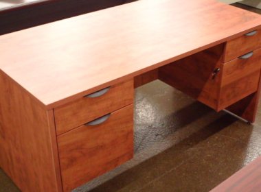 Cherry Double Ped Desk