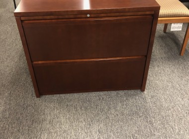 Cherry Two Drawer Lateral File