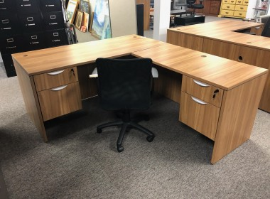 Autumn Walnut L-Shaped Desk