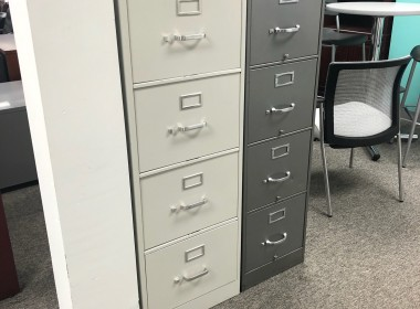 Grey Four Drawer Lateral Files