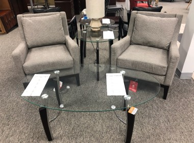 Gray/Espresso Side Chairs