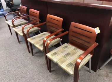 Haworth Slat Back Side Chairs