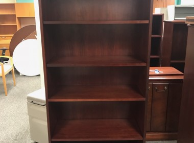 Traditional Dark Cherry Bookcase