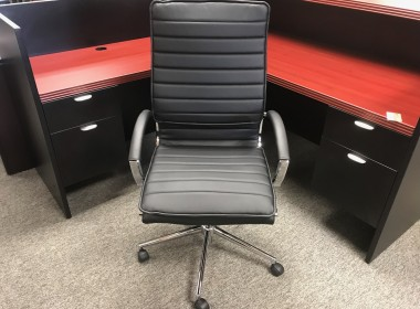 High Back Managers Chair with Chrome Frame