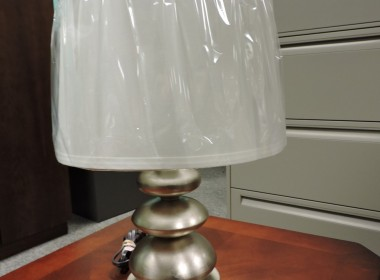 Round metal desk lamp in Richmond VA